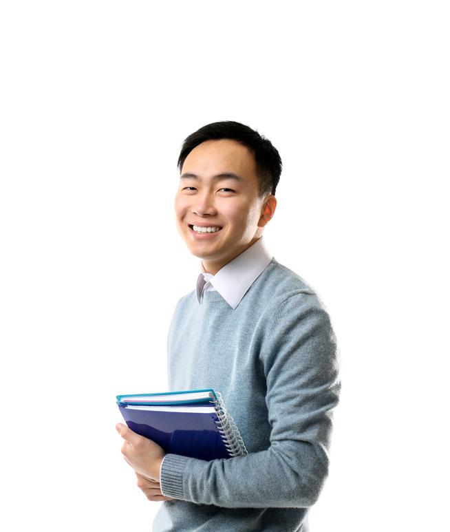tutor smiling